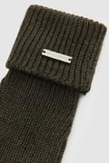 Pure virgin wool ribbed Gloves