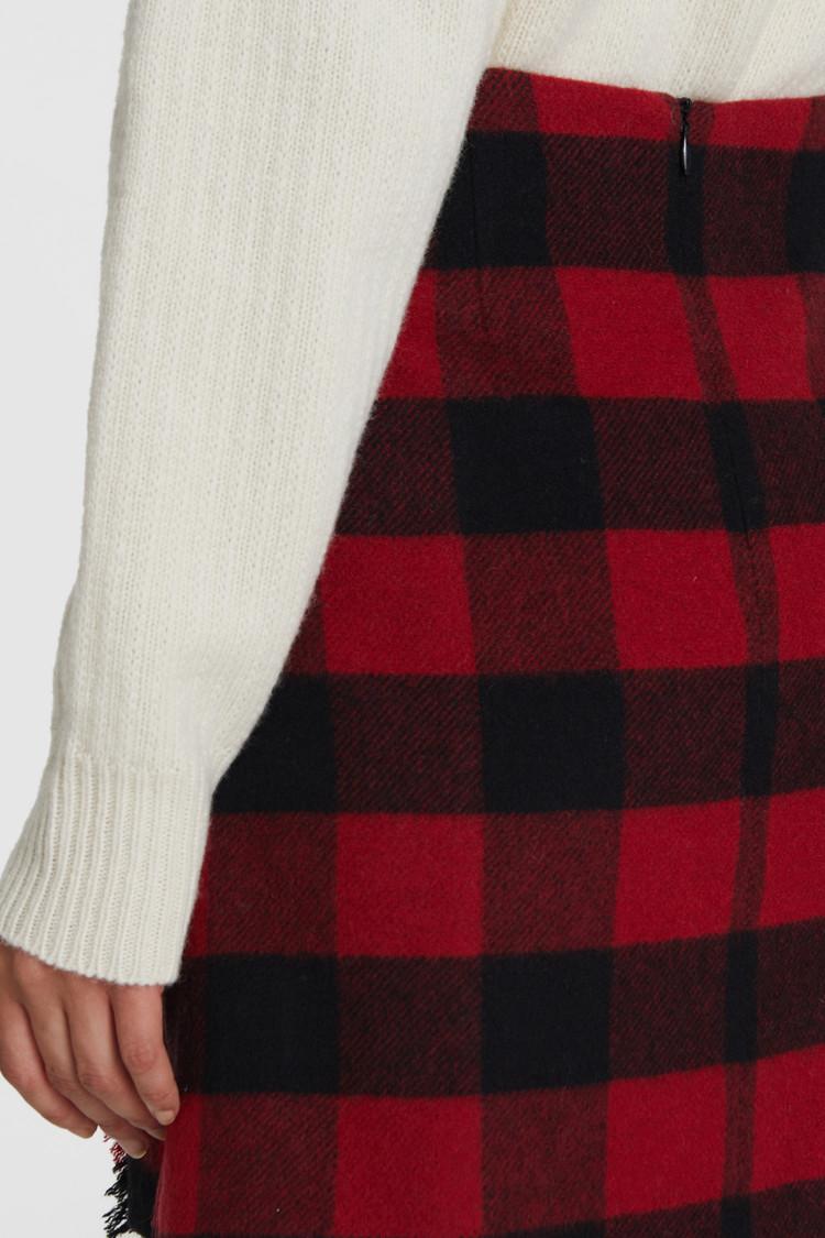 Stretch-Wool Skirt