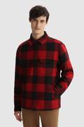 Alaskan Check padded Shirt in Italian recycled wool