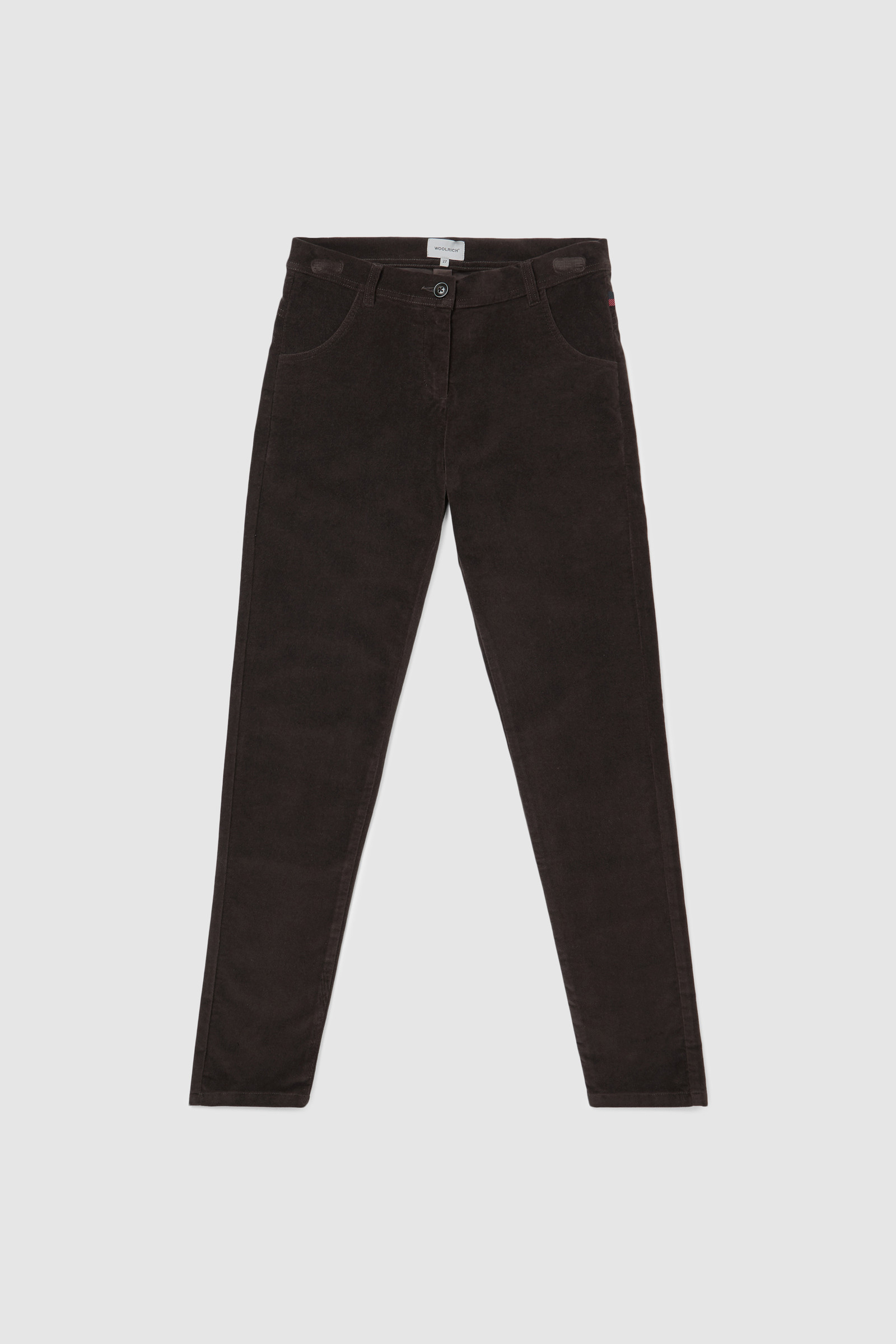 Pantaloni in velluto stretch