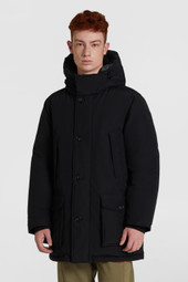 Reversible Wool Arctic Parka With Buffalo Check