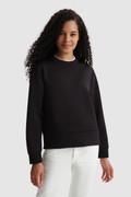 Sweatshirt aus Stretch mit seitlicher Öffnung