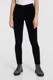 Stretch-Velvet Pants