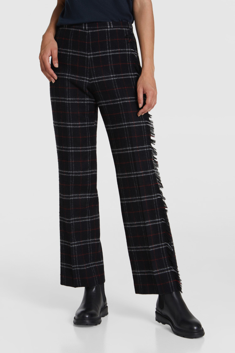 Pantaloni in lana stretch