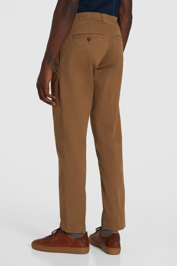 Pantaloni Chino In Cotone Tinto In Capo