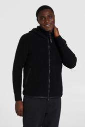 Wattierte Jacke mit Ärmeln aus Tech-Strick