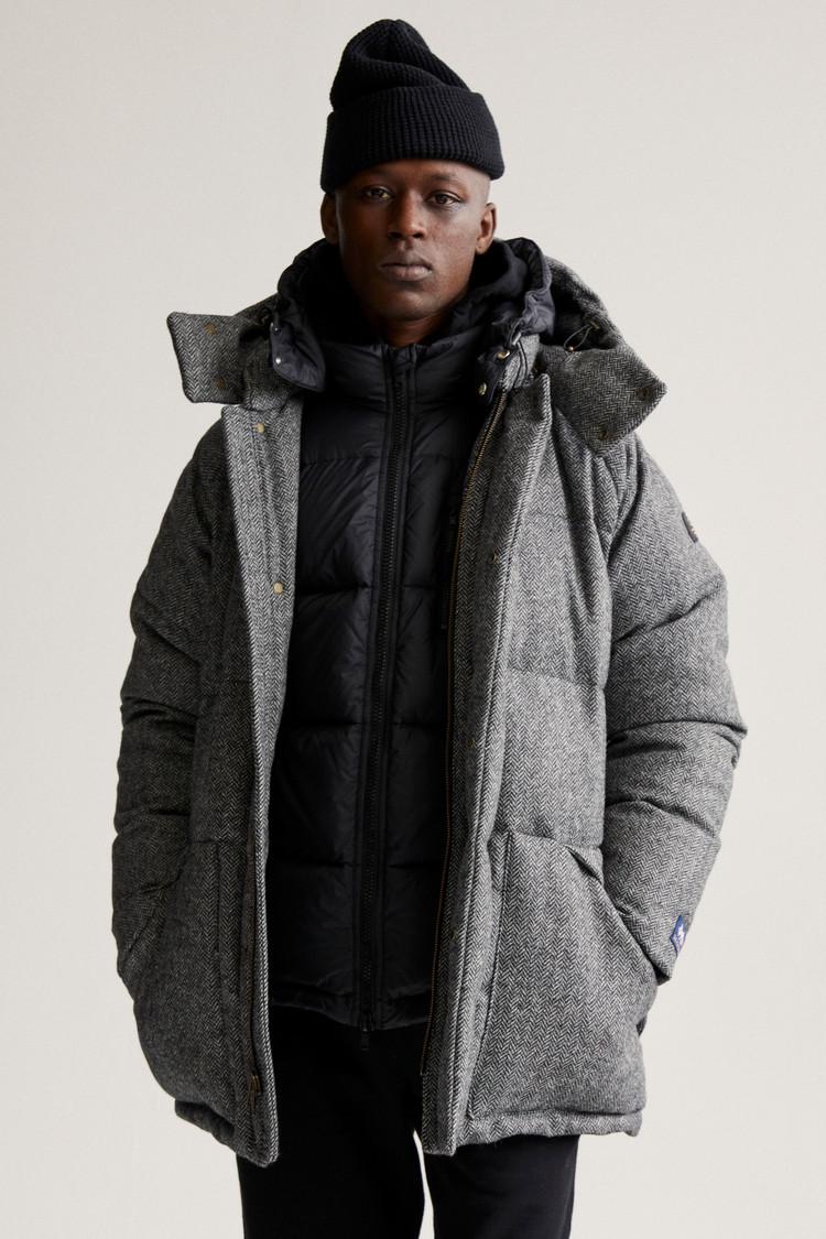 Aimé Leon Dore / Woolrich Parka in lana pregiata herringbone