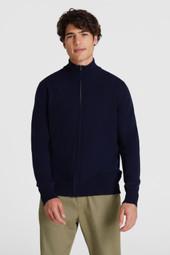 Pull en laine entièrement zippé