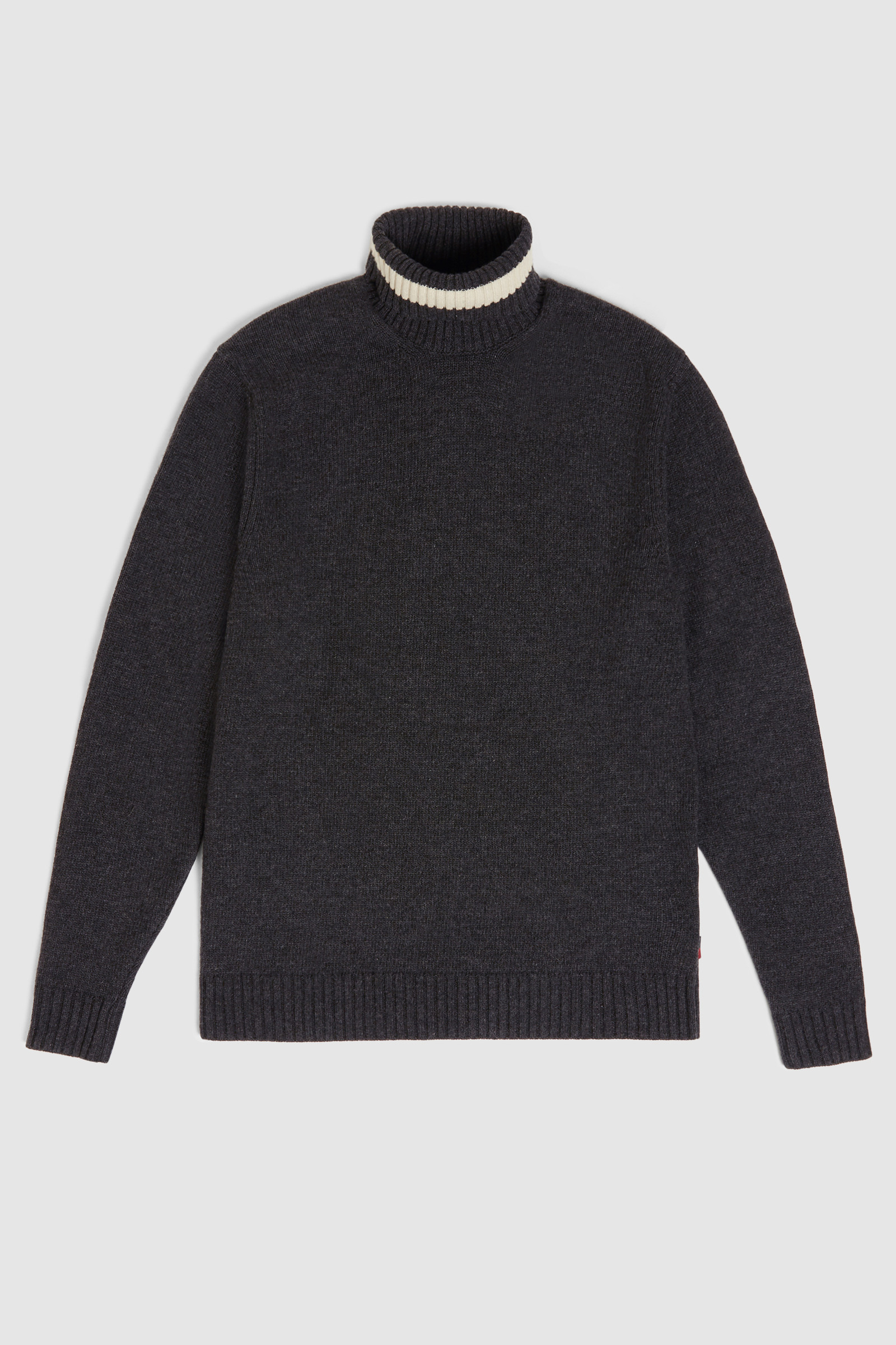 Wool Colour Block Crewneck Sweater