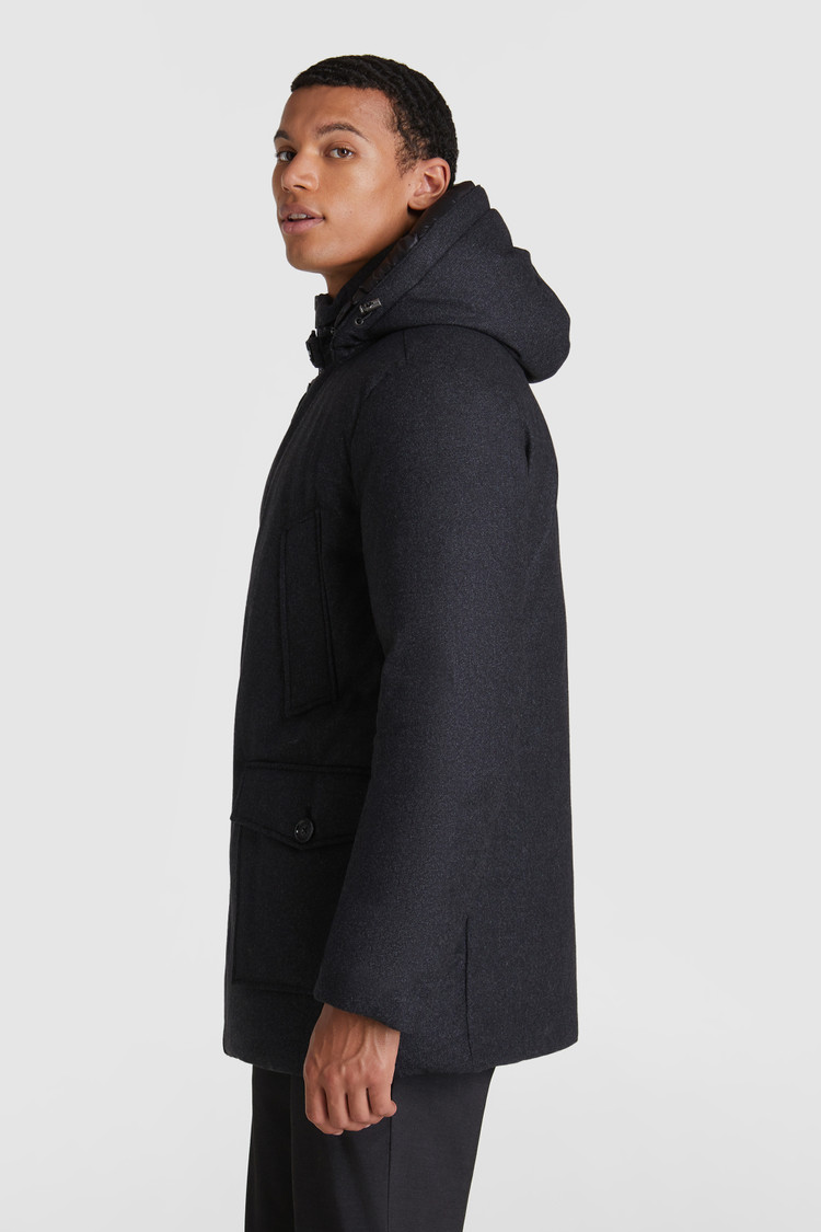Arctic Parka luxe in lana pregiata