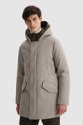 Luxe Polar Parka van Italiaanse ecologische wol geraft met een Loro Piana-stof