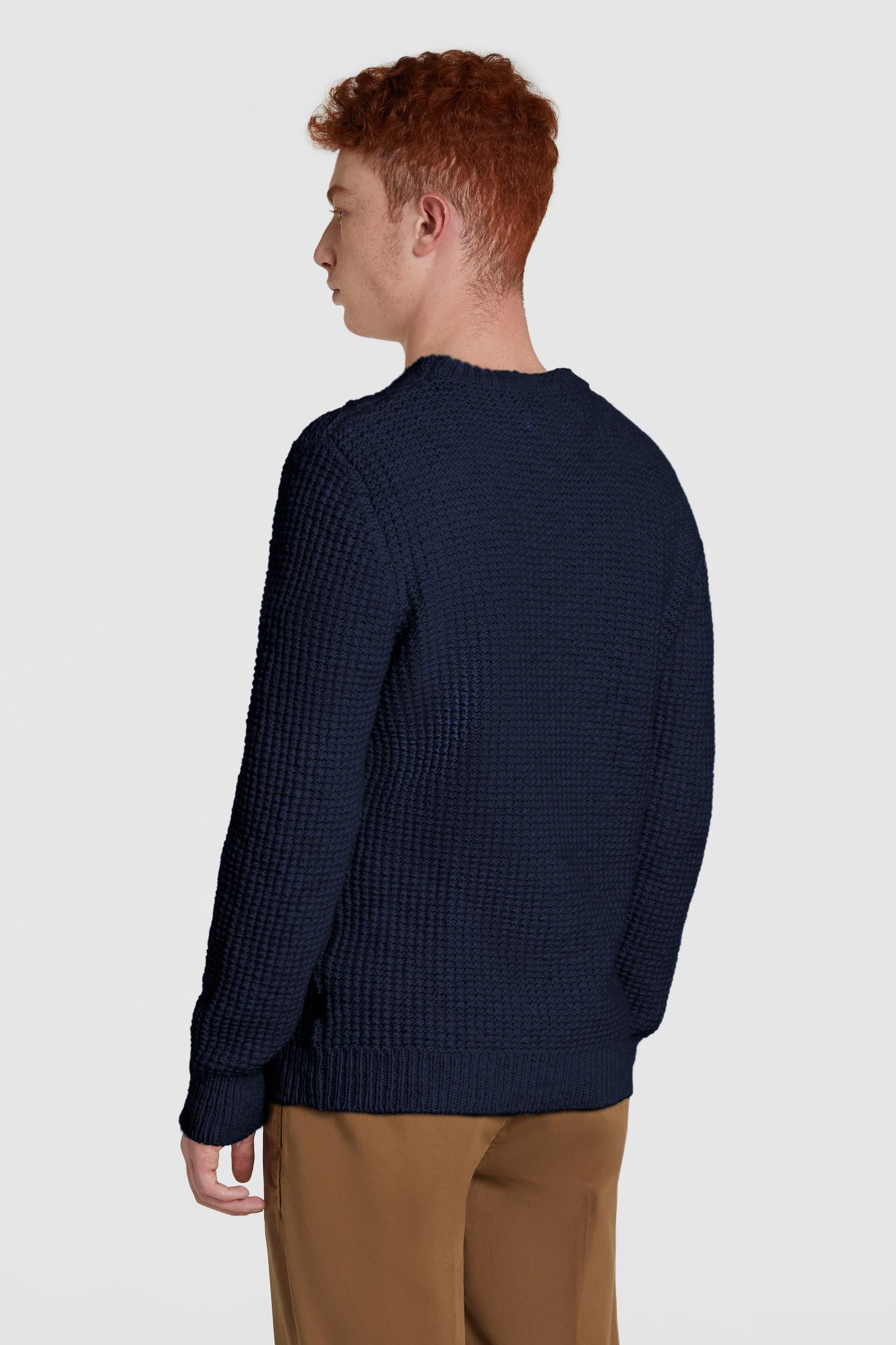 Maglione in lana girocollo a trecce