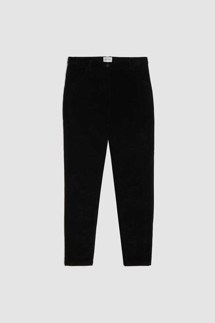 Pantaloni in velluto stretch