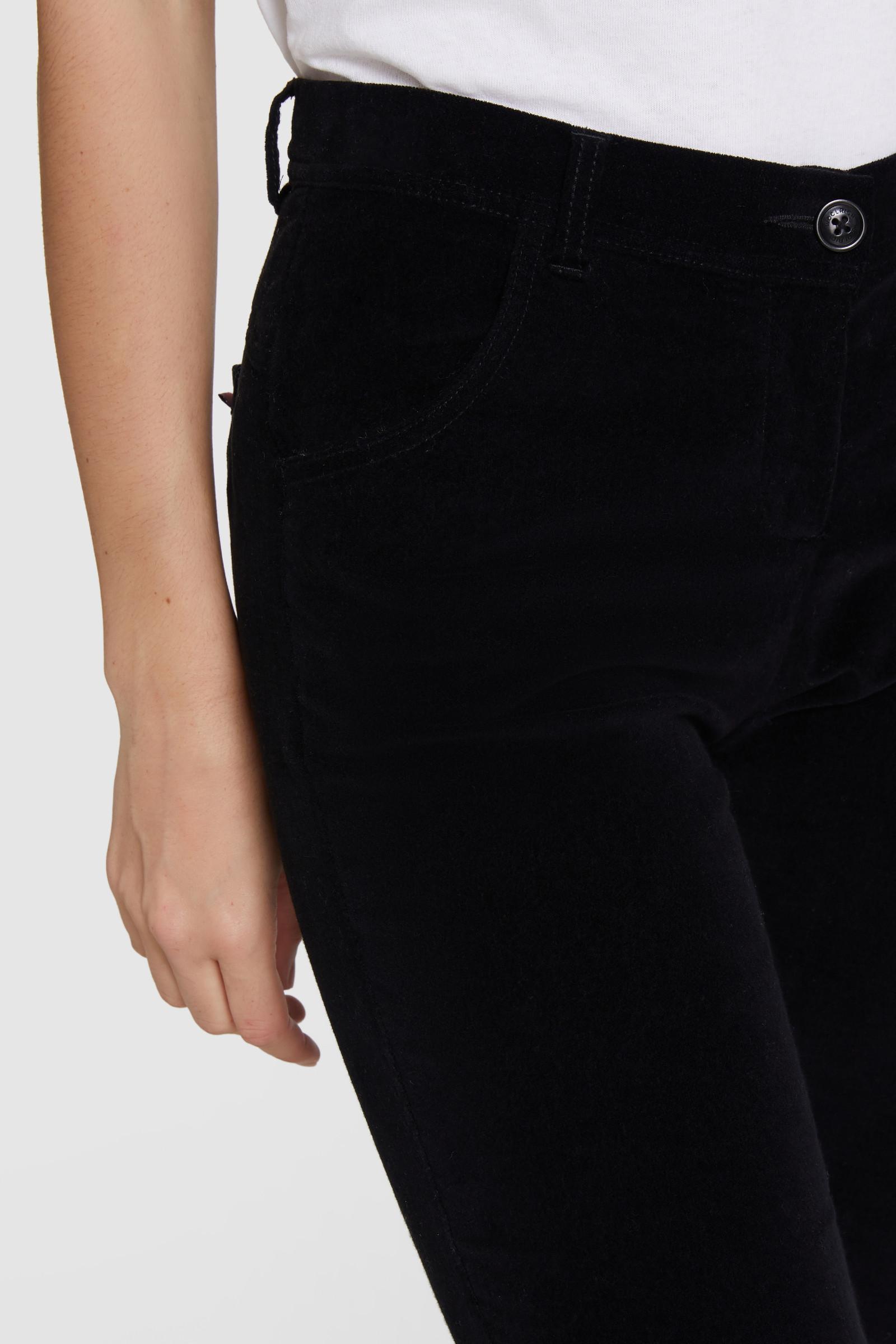 Stretch-Velvet Pants