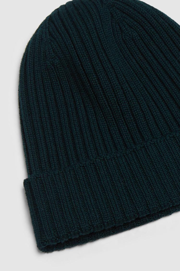 Rib-Stitched Wool Beanie