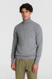 Pull en laine à col montant