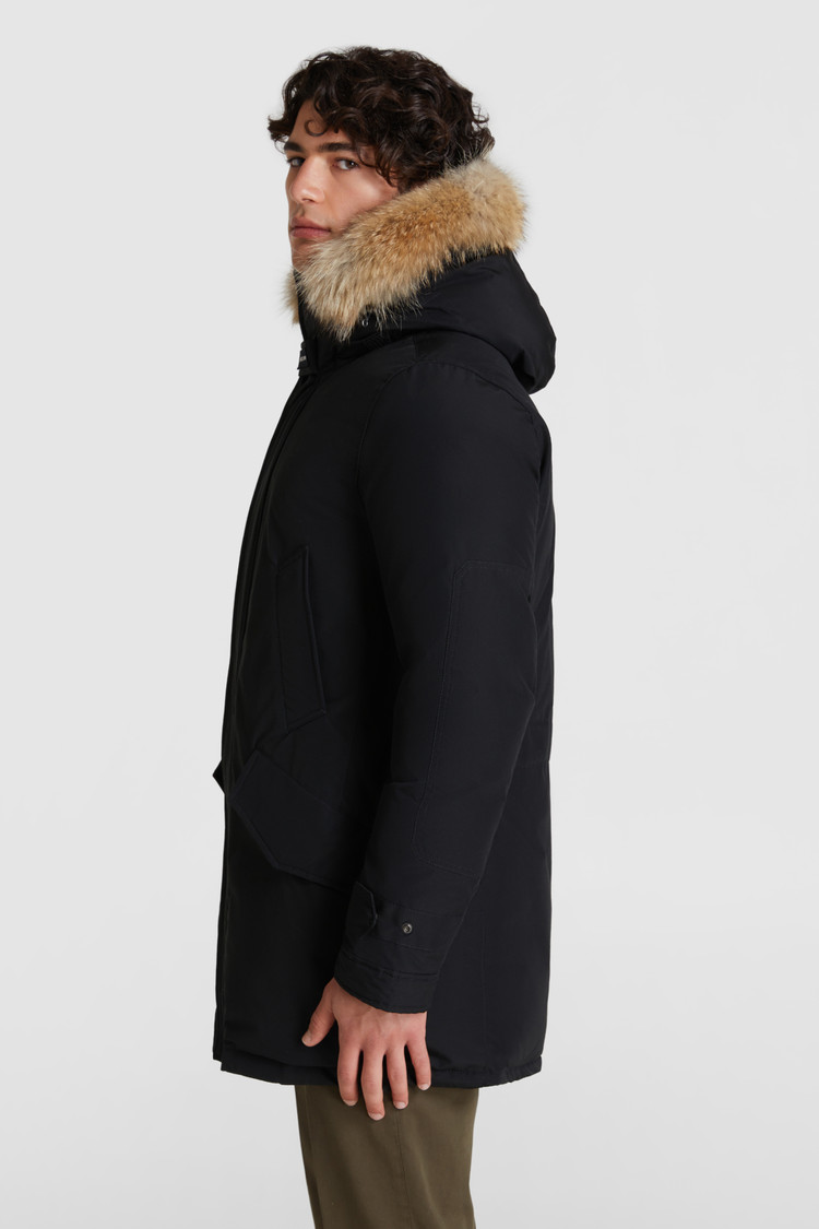 Polar Parka met hoge kraag, coyotebont