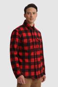 Alaskan Melton Shirt in recycled Italian wool