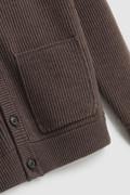 Ribbed Merino wool Cardigan