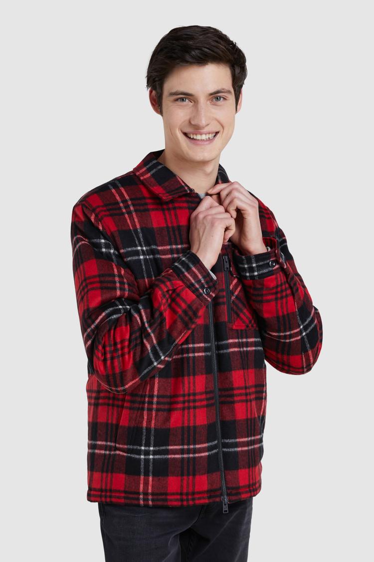 Giacca a camicia Timber imbottita