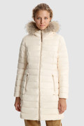 Ellis quilted long Jacket with removable fur