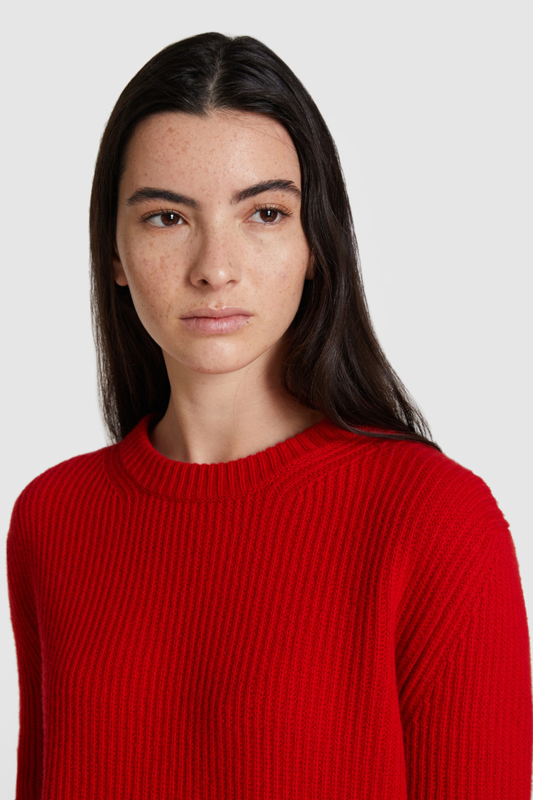 Wollen trui met ronde hals