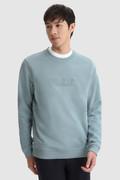 Sweat-shirt de luxe à col ras du cou avec logo en relief