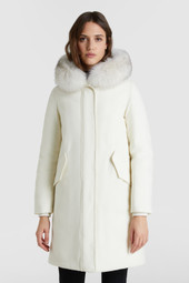Carnation Parka With Fox Fur