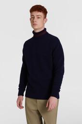 Pull en laine à col rond color-block