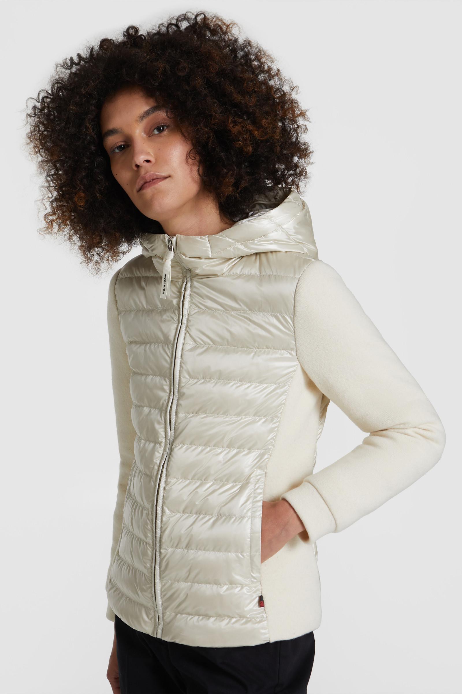 Padded Sweatshirt With Hood And Fox Fur