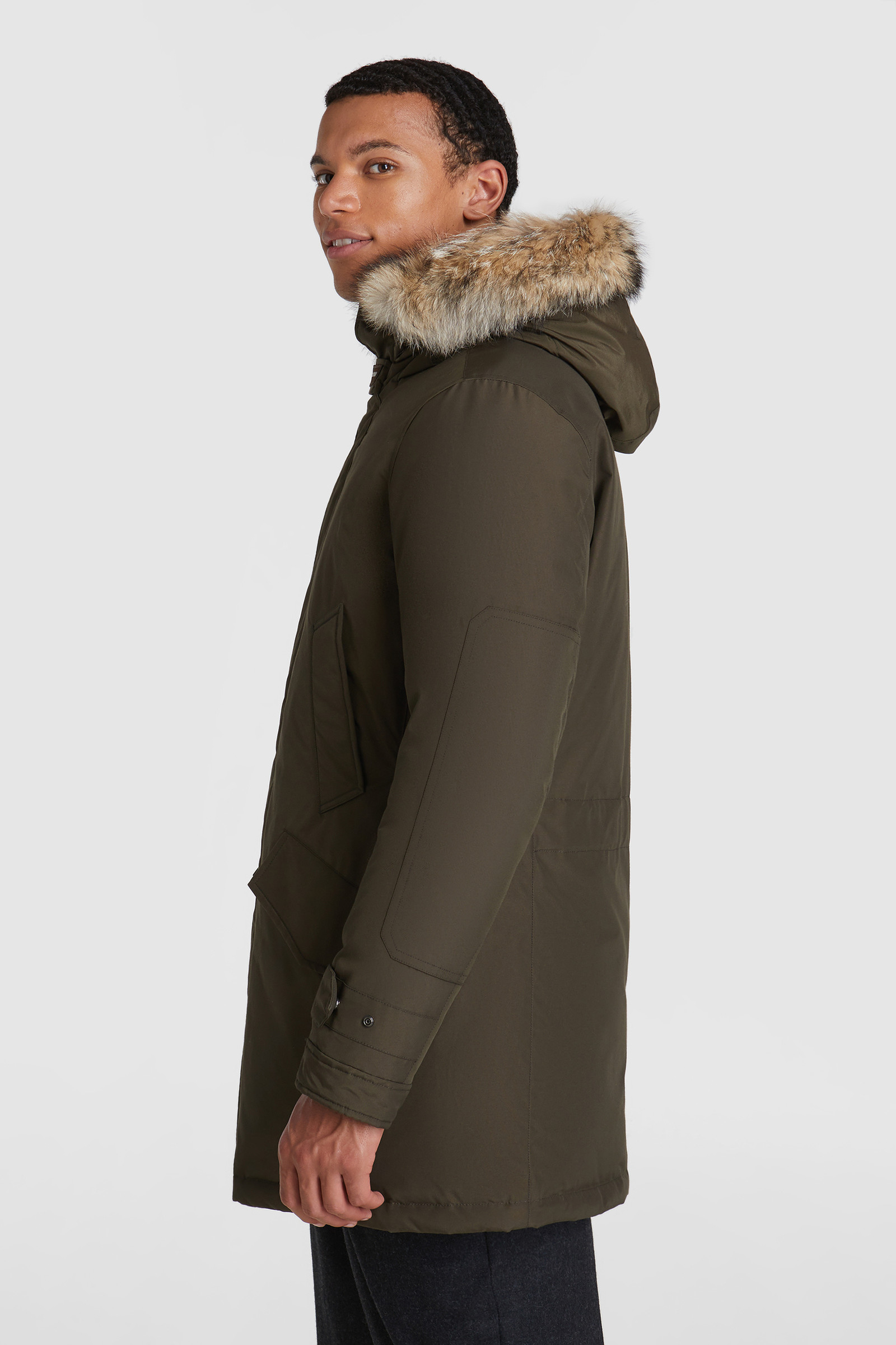 High neck polar Parka, coyote fur