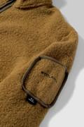 Leichter Terra-Melton Pullover mit durchgehendem Reißverschluß
