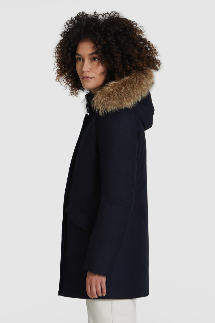 Luxe Arctic Parka With Coyote Fur