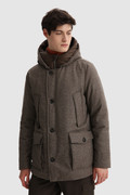 Luxury Arctic Parka in italian eco-wool crafted with a Loro Piana fabric