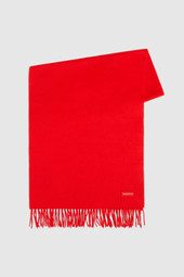 Wool Scarf With Woolrich Logo