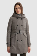 Trench Coat in Italian virgin wool with belt crafted with a Loro Piana fabric