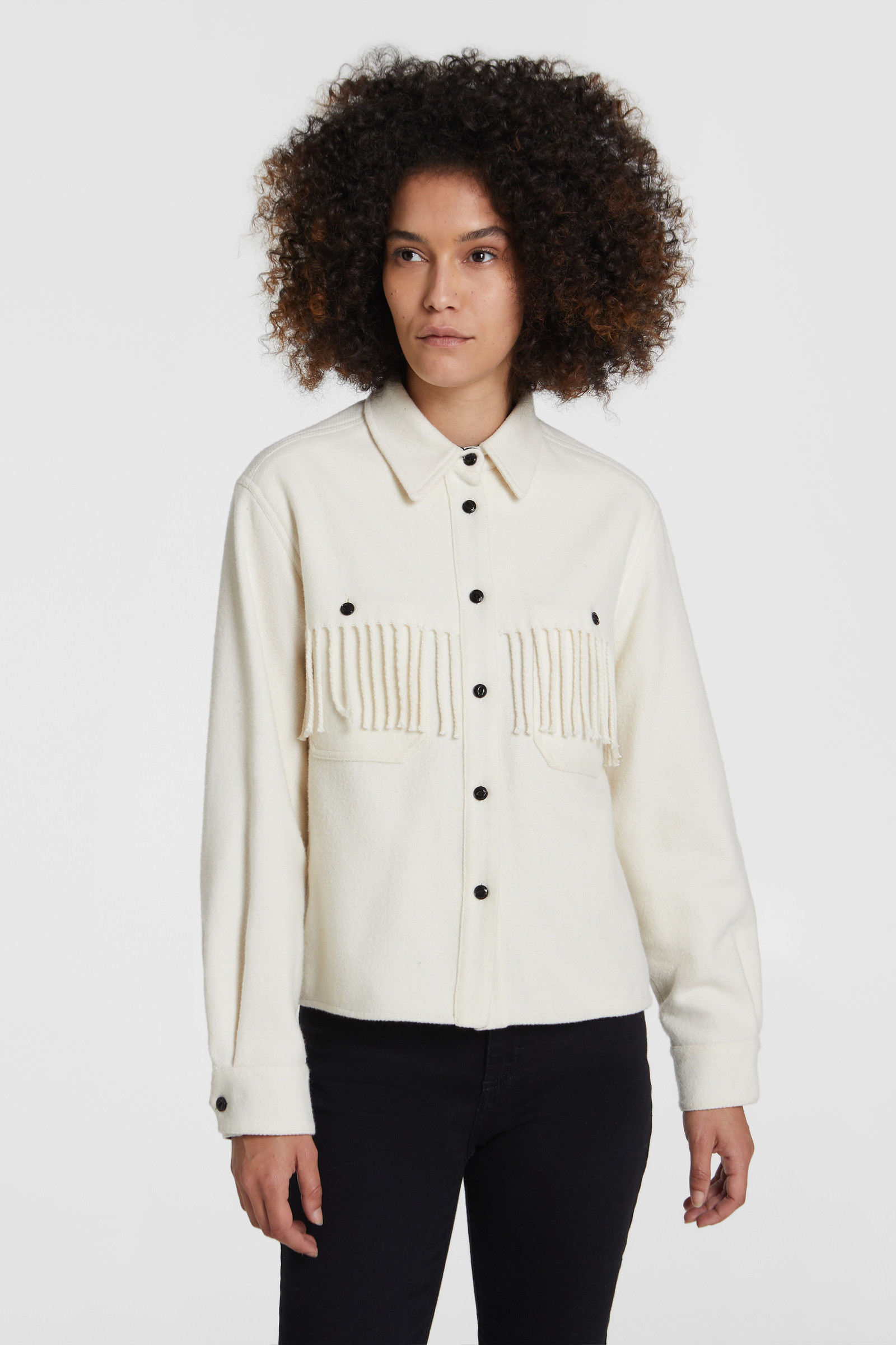 Stag Overshirt With Fringes