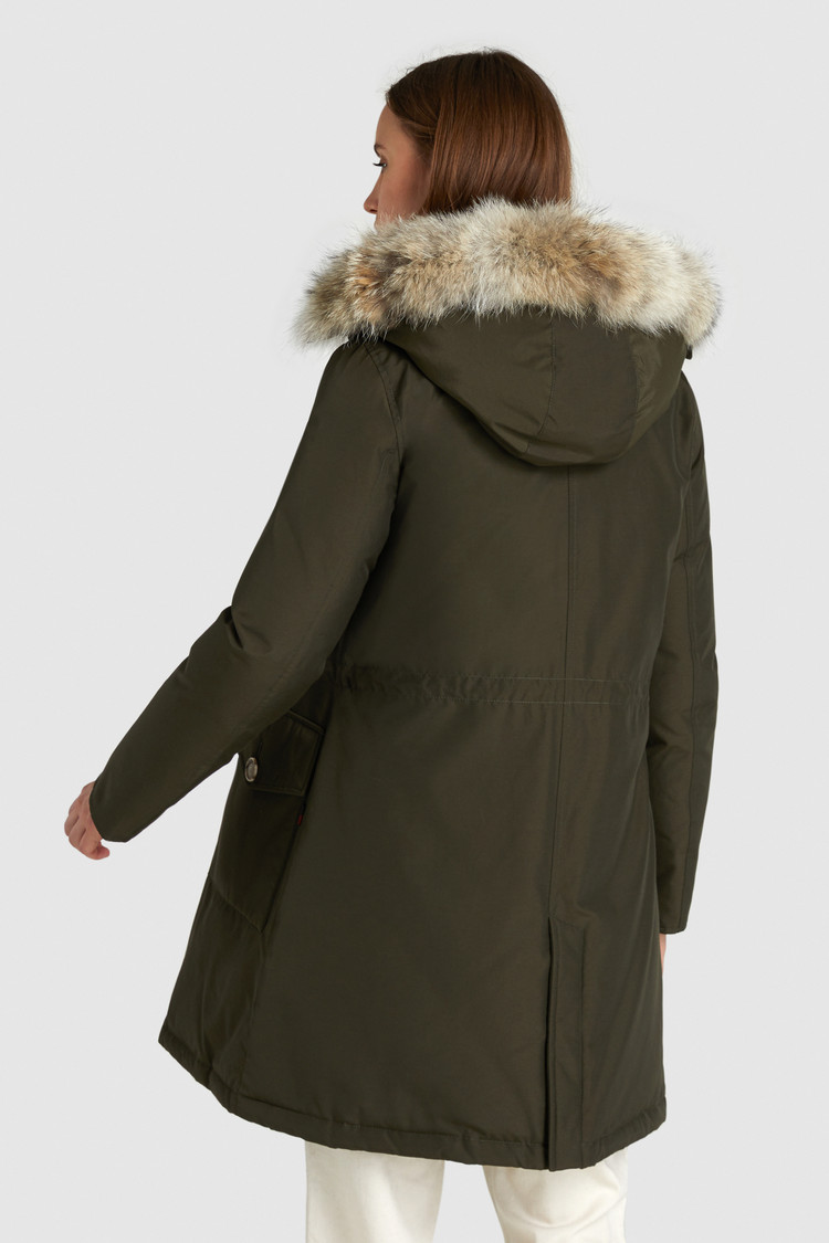 Long Arctic Parka with Coyote Fur