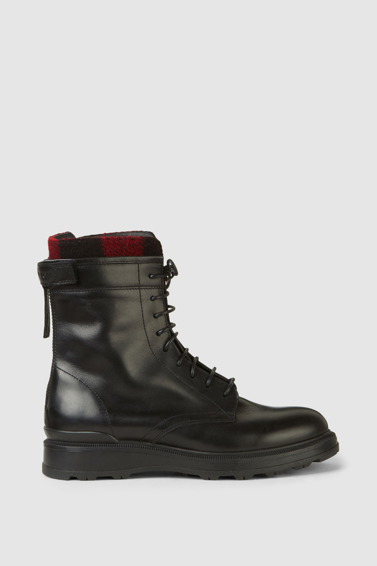 Work Boot With Check Pattern