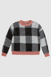 Checkered Crewneck Sweater