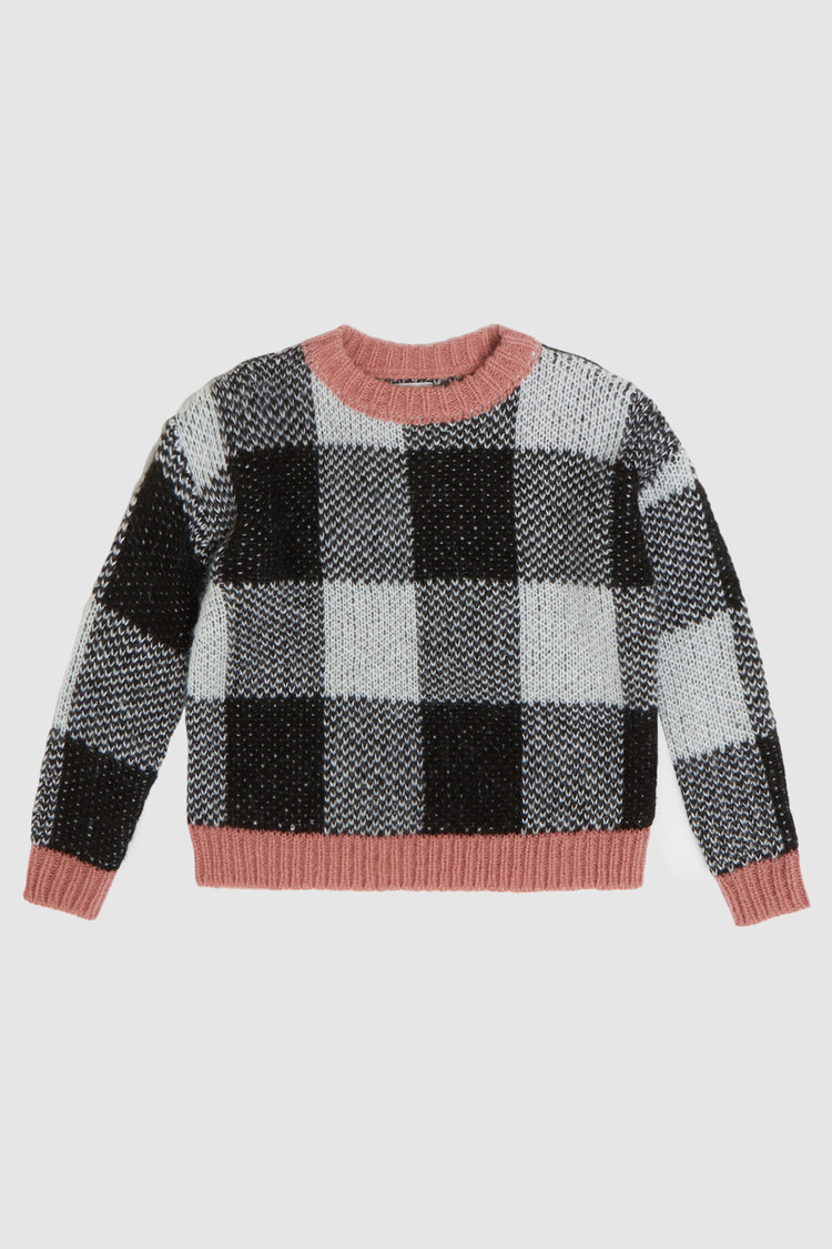 Checkered Crewneck Sweater
