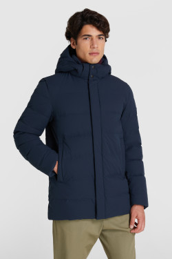 Sierra Stag Quilted Jacket With Detachable Hood