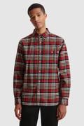 Camisa de corte tradicional en franela de algodón
